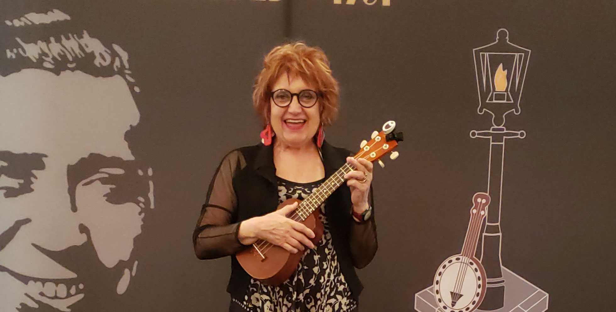 Ann Welsh with a Ukelele